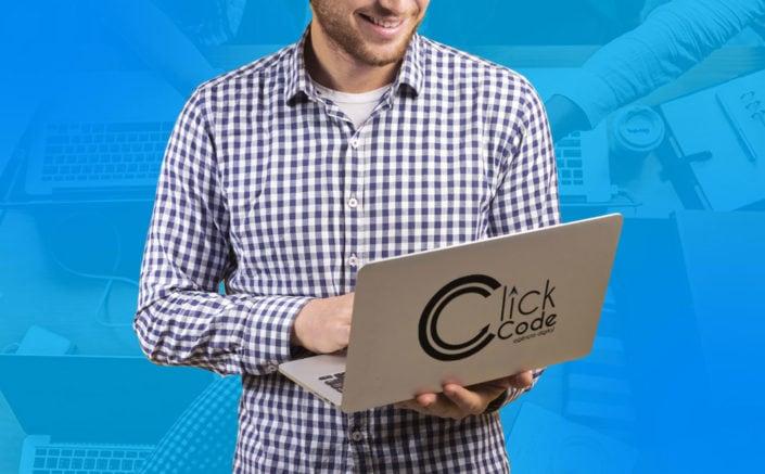 notebook click code produtividade